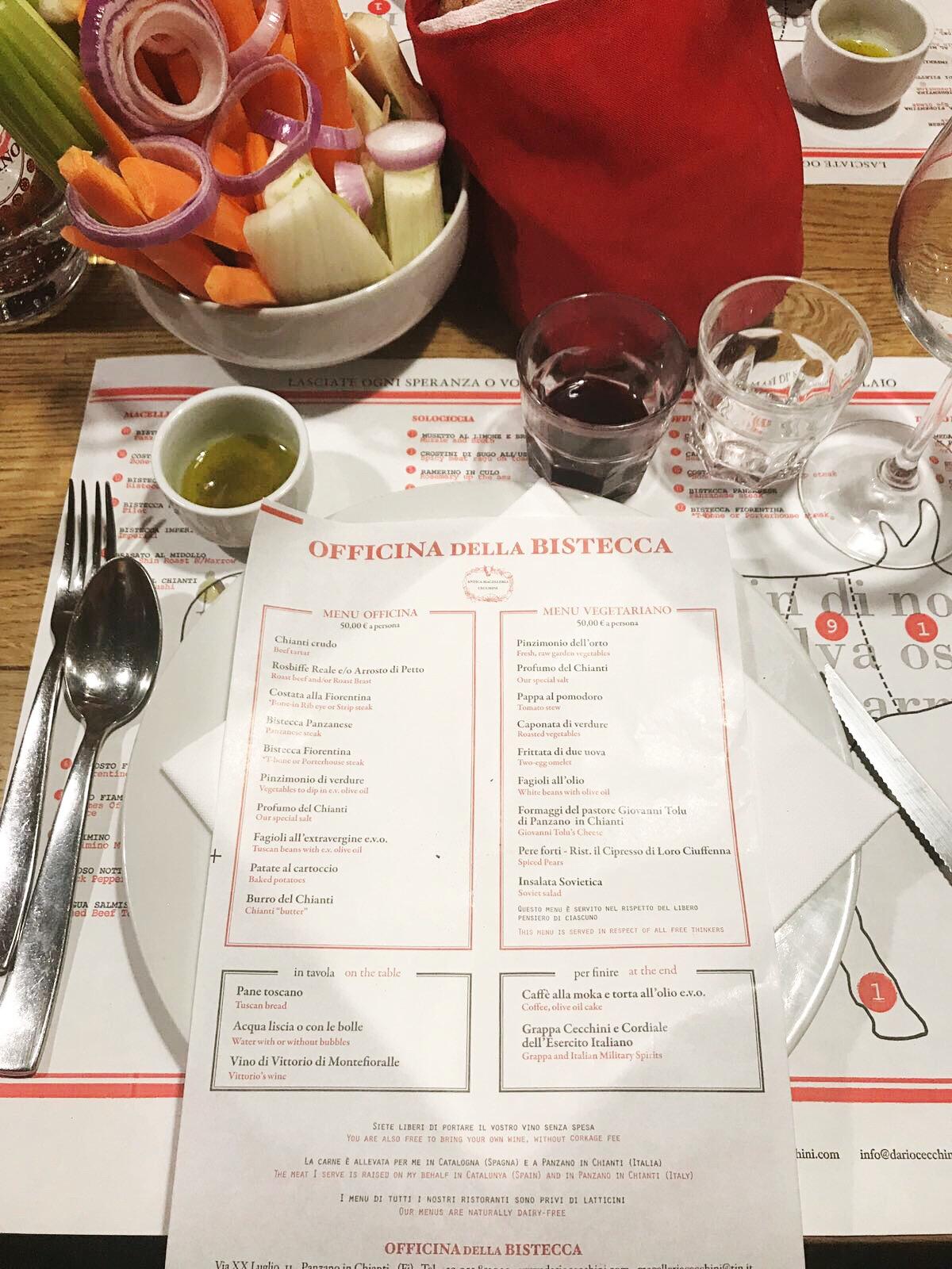 Italian matkallani Toscanassa kävimme Chiantin kylässä nimeltä Panzano Sieltä löytyi ainutlaatuinen ravintola nimeltä ficina della Bistecca